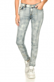 Fracomina |  Jeans with sparkles and beads Tina | grey  | Picture 4