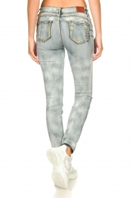 Fracomina |  Jeans with sparkles and beads Tina | grey  | Picture 7