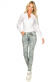 Fracomina |  Jeans with sparkles and beads Tina | grey  | Picture 2