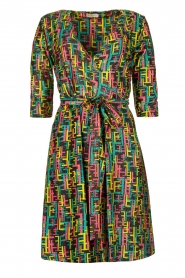 Fracomina |  Printed dress with lurex | multi  | Picture 1