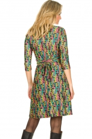 Fracomina |  Printed dress with lurex | multi  | Picture 6