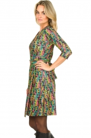 Fracomina |  Printed dress with lurex | multi  | Picture 5
