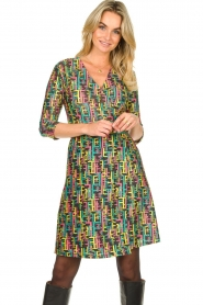 Fracomina |  Printed dress with lurex | multi  | Picture 2
