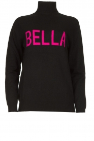 Fracomina |  Turtleneck with text Bella | black  | Picture 1