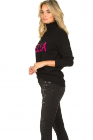 Fracomina |  Turtleneck with text Bella | black  | Picture 6