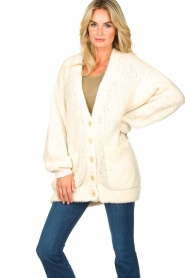 American Vintage |  Soft oversized button cardigan Tudbury | natural  | Picture 4