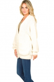American Vintage |  Soft oversized button cardigan Tudbury | natural  | Picture 5