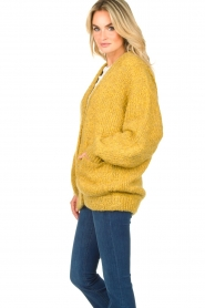 American Vintage |  Soft oversized button cardigan Tudbury | yellow  | Picture 5