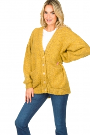American Vintage |  Soft oversized button cardigan Tudbury | yellow  | Picture 4
