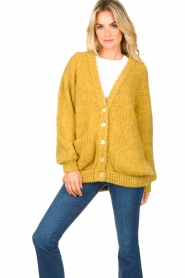 American Vintage |  Soft oversized button cardigan Tudbury | yellow  | Picture 2