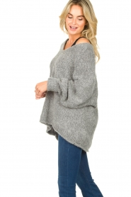 American Vintage |  Soft V-neck sweater Tudbury | grey  | Picture 5
