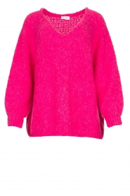 American Vintage |  Soft V-neck sweater Tudbury | pink  | Picture 1