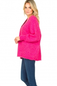 American Vintage |  Soft V-neck sweater Tudbury | pink  | Picture 5