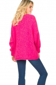 American Vintage |  Soft V-neck sweater Tudbury | pink  | Picture 6