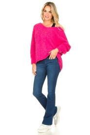 American Vintage |  Soft V-neck sweater Tudbury | pink  | Picture 3