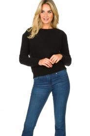 American Vintage |  Kid mohair sweater Zabido | black  | Picture 2