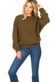 American Vintage |  Oversized sweater East | green  | Picture 4