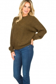 American Vintage |  Oversized sweater East | green  | Picture 5