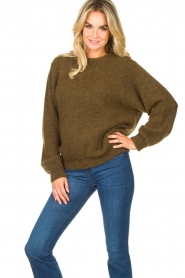 American Vintage |  Oversized sweater East | green  | Picture 2