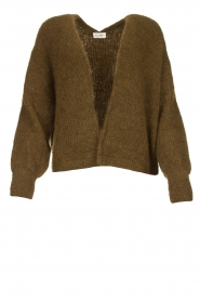 American Vintage |  Short knitted cardigan East | green  | Picture 1