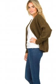 American Vintage |  Short knitted cardigan East | green  | Picture 5