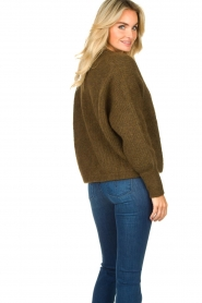 American Vintage |  Short knitted cardigan East | green  | Picture 6