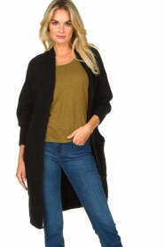 American Vintage |  Long knitted cardigan East | black  | Picture 4