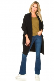 American Vintage |  Long knitted cardigan East | black  | Picture 3