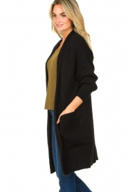 American Vintage |  Long knitted cardigan East | black  | Picture 5