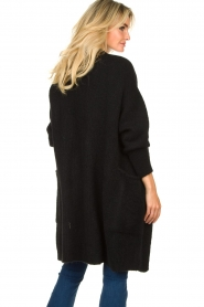 American Vintage |  Long knitted cardigan East | black  | Picture 6