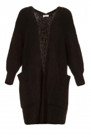American Vintage |  Long knitted cardigan East | black  | Picture 1