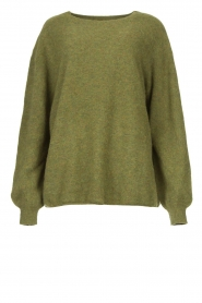 American Vintage | Zachte oversized trui Nuasky | groen   | Afbeelding 1