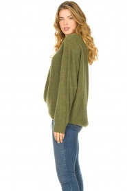 American Vintage |  Soft oversized sweater Nuasky | green  | Picture 5