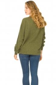 American Vintage | Zachte oversized trui Nuasky | groen   | Afbeelding 6