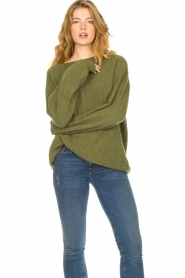 American Vintage |  Soft oversized sweater Nuasky | green  | Picture 2