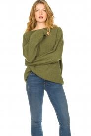 American Vintage | Zachte oversized trui Nuasky | groen   | Afbeelding 2