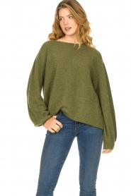 American Vintage |  Soft oversized sweater Nuasky | green  | Picture 4