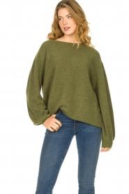 American Vintage | Zachte oversized trui Nuasky | groen   | Afbeelding 4