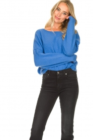 American Vintage |  Knitted sweater Damsville | blue  | Picture 5