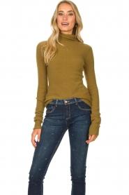 American Vintage |  Turtleneck sweater Damsville | green  | Picture 3