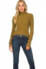American Vintage |  Turtleneck sweater Damsville | green  | Picture 2