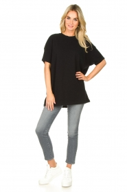 American Vintage    Oversized cotton T-shirt Sonoma   black    Picture 3