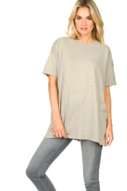 American Vintage |  Oversized cotton T-shirt Sonoma | grey  | Picture 5