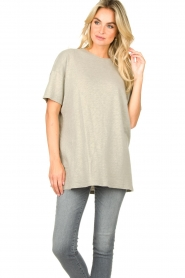American Vintage |  Oversized cotton T-shirt Sonoma | grey  | Picture 2