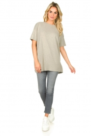 American Vintage |  Oversized cotton T-shirt Sonoma | grey  | Picture 3