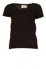 American Vintage |  Basic V-neck T-shirt Sonoma | black  | Picture 1