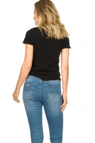 American Vintage |  Basic V-neck T-shirt Sonoma | black  | Picture 5