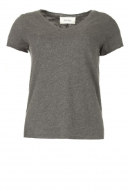 American Vintage |  Basic V-neck T-shirt Sonoma | grey  | Picture 1