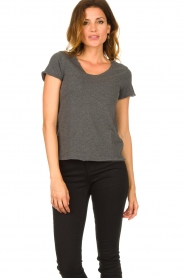 American Vintage |  Basic V-neck T-shirt Sonoma | grey  | Picture 2