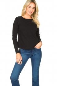 American Vintage |  Basic round neck T-shirt Sonoma | black  | Picture 3